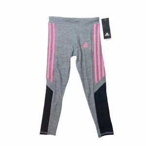 NWT Adidas pink and gray leggings